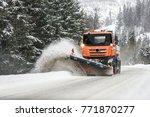 Snow Plow Truck  Winter Highwa...