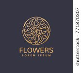 floral logo. flower icon.... | Shutterstock .eps vector #771870307