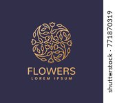 floral logo. flower icon.... | Shutterstock .eps vector #771870319