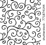 seamless pattern with whorls.... | Shutterstock .eps vector #771874144