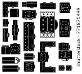 buildings icon set top view... | Shutterstock .eps vector #771875449