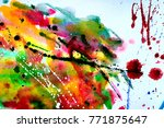abstract watercolor texture.... | Shutterstock . vector #771875647