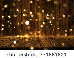 3d render of a wooden table... | Shutterstock . vector #771881821