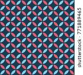 seamless intersecting geometric ... | Shutterstock .eps vector #771889465