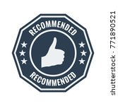 recommended black flat badge on ... | Shutterstock .eps vector #771890521