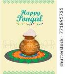 vector design of happy pongal...   Shutterstock .eps vector #771895735