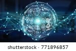 digital sphere and holograms... | Shutterstock . vector #771896857