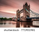 london tower bridge at night... | Shutterstock . vector #771901981