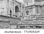 the ancient ruins and remains... | Shutterstock . vector #771905329