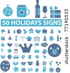 50 holidays signs  icons ... | Shutterstock .eps vector #77190535