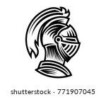 vector of knight helmet  could... | Shutterstock .eps vector #771907045
