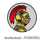 vector of knight helmet  could... | Shutterstock .eps vector #771907051