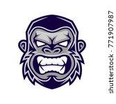 gorilla head vector  monkey... | Shutterstock .eps vector #771907987