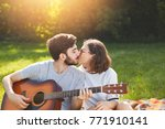 adorable couple have passionate ...   Shutterstock . vector #771910141