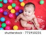 asia baby child relaxing in... | Shutterstock . vector #771910231