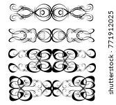 decorative monograms and... | Shutterstock .eps vector #771912025