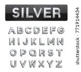 premium silver font vector | Shutterstock .eps vector #771914434