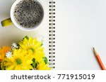 top view coffee cup and... | Shutterstock . vector #771915019
