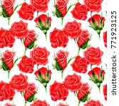 wildflower rose flower pattern... | Shutterstock . vector #771923125