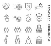 people icons line work group... | Shutterstock .eps vector #771924211