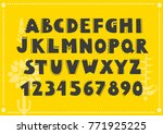 vector alphabet and set of... | Shutterstock .eps vector #771925225
