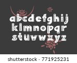 vector patterned alphabet... | Shutterstock .eps vector #771925231