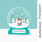 christmas snow glass ball with... | Shutterstock .eps vector #771926197