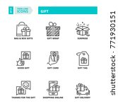 line icons about gift | Shutterstock .eps vector #771930151