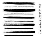 set of hand drawn ink grunge... | Shutterstock .eps vector #771931357