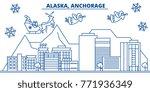 usa  alaska  anchorage winter...   Shutterstock .eps vector #771936349