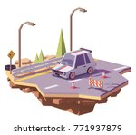 vector low poly classic hot... | Shutterstock .eps vector #771937879