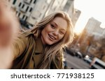 gorgeous beauty. self portrait... | Shutterstock . vector #771938125