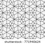 seamless islamic pattern vector ... | Shutterstock .eps vector #771940624