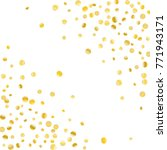 golden confetti on a white... | Shutterstock .eps vector #771943171