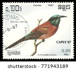 cambodia   stamp printed 1987 ... | Shutterstock . vector #771943189