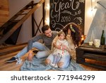 christmas decoration in room of ... | Shutterstock . vector #771944299