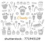 candy set vector hand drawn...   Shutterstock .eps vector #771945139