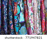 colorful  fabrics  pattern... | Shutterstock . vector #771947821