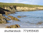 beach surrounded by cliffs ... | Shutterstock . vector #771955435