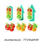 set of growing tomatoes ... | Shutterstock .eps vector #771966949