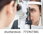 slit lamp eye control with the... | Shutterstock . vector #771967381