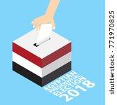 egyptian presidential election... | Shutterstock .eps vector #771970825