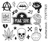 punk icons collection. vector... | Shutterstock .eps vector #771977815