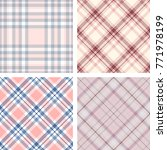 pastel pink plaid patterns. set ... | Shutterstock .eps vector #771978199