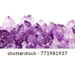 macro photo of lilac amethyst... | Shutterstock . vector #771981937