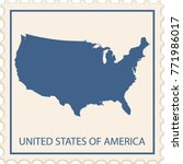 usa map stamp vector | Shutterstock .eps vector #771986017