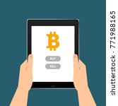 sale and purchase of bitcoins... | Shutterstock .eps vector #771988165