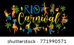 brazil carnival. vector... | Shutterstock .eps vector #771990571