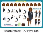 set of businesswoman character... | Shutterstock .eps vector #771991135