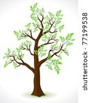 abstract detailed eco tree... | Shutterstock .eps vector #77199538